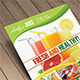 Download Fruit Juice Menu Flyer / Magazine Ad from GraphicRiver