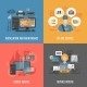Download Computers Repair 4 Flat Icons Square  from GraphicRiver
