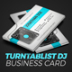 Download Turntablist DJ Business Card from GraphicRiver