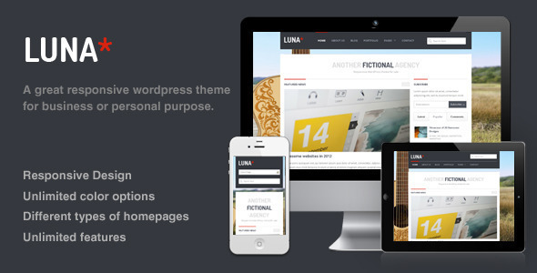 Luna - Responsive WordPress Theme - ThemeForest Item for Sale