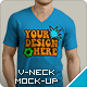Download V-Neck T-Shirt Mockup from GraphicRiver