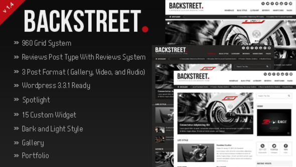 Backstreet - Blog & Magazine Theme - ThemeForest Item for Sale