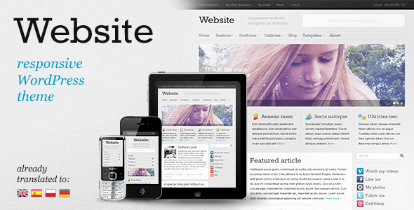 Website - responsive WordPress theme - ThemeForest Item for Sale