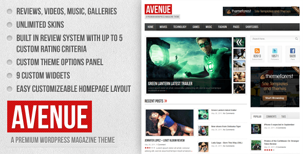 Avenue - A WordPress Magazine Theme - ThemeForest Item for Sale