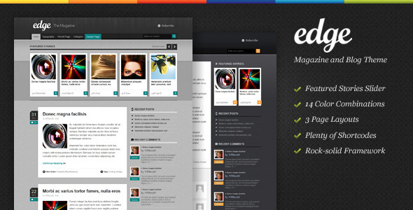 Edge - Magazine & Blog WordPress Theme - ThemeForest Item for Sale
