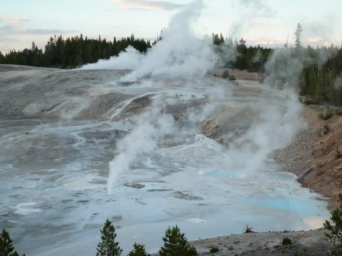 Ouest américain Yellowstone National Park Norris Geyser Basin
