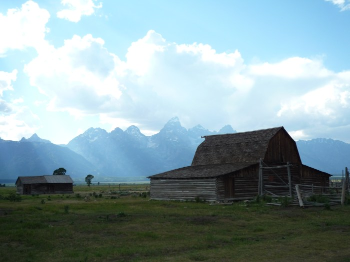 Ouest américain Grand Teton National Park Mormon Row