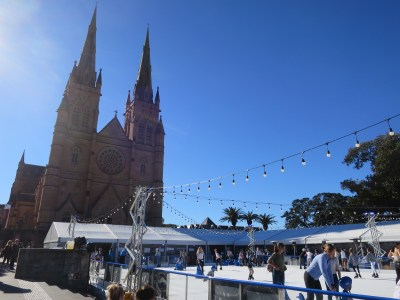 Sydney St Mary Cathedral Ice skate