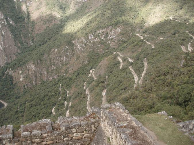 The winding road to Machu Picchu