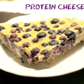 Protein Blueberry Cheesecake