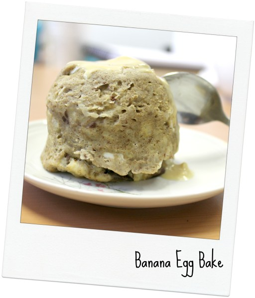 banana egg bake