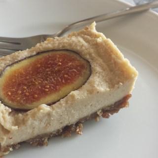 Raw Vegan Orange and Fig Cheesecake