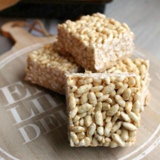 Vegan Protein Rice Crispy Squares