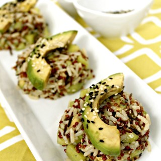 Avocado and Cucumber Sushi Salad
