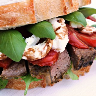 Italian Caprese Steak Sandwich