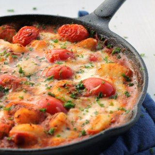 Vegeterian Mozzarella Gnocchis in Marinara Sauce