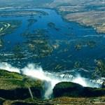Aerial view of Vic Falls