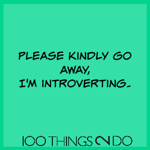 "Too funny - Is ""introverting"" a verb?"