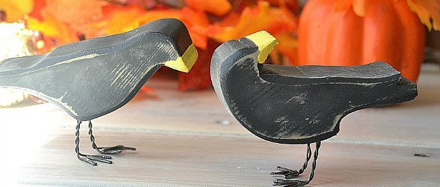 Scrap wood crows, Halloween decor