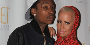 Amber Rose with boyfriend and rapper Wiz Khalifa