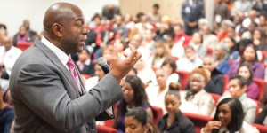 Magic Johnson answers questions about business obstacles and his HIV-positive status.