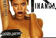 Poster from Rihanna's Diamonds World Tour.