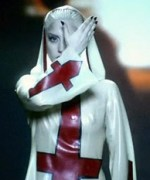 "Fashion Icon, Lady Gaga's nun-inspired outfit for her ""Alejandro"" Music Video."