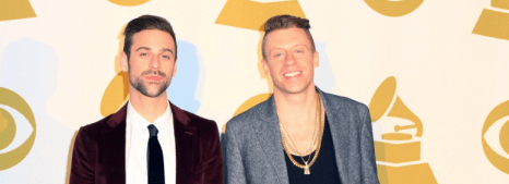 Macklemore & Ryan Lewis (right to left) sweep Grammy Awards.