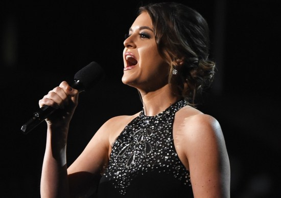 """Authentic love does not silence shame and abuse,"" domestic violence survivor Brooke Axtell said during the Grammy Awards."