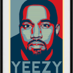 The Perky Pug is selling this Yeezy poster for $10.92.
