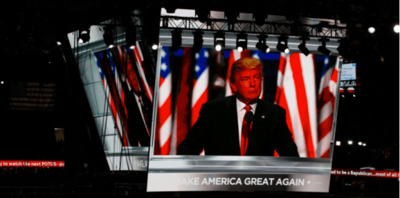 Donald Trump at the Republican National Convention in Cleveland.