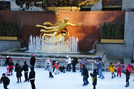 Ice skating rink at Rockefeller Center.