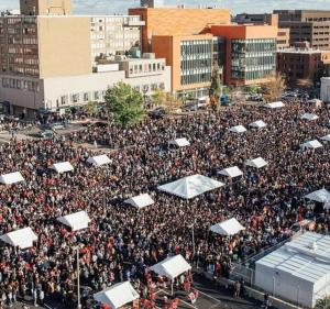 At least 100,000 people from all over the country, alumni and friends alike, attend Howard University's Homecoming, including the popular tailgate on Georgia Avenue.