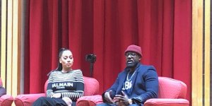 La La Anthony and Lance Gross teach Master Class at Howard.