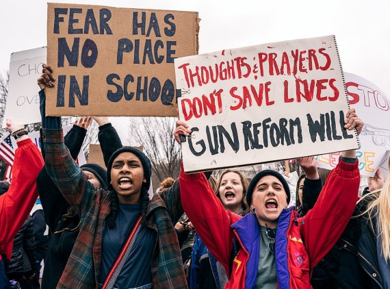 Students protesting in Washington lead the way on the anti-gun efforts. (Photo: )