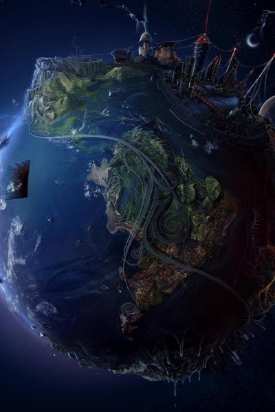 3D/Abstract - Future World Earth Planet - iPad iPhone HD Wallpaper Free