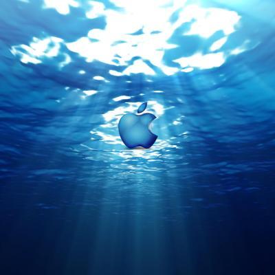 Computers - Apple Symbol In Underwater World - iPad iPhone HD Wallpaper Free