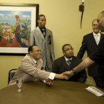 Big Rob meeting the Honorable Minister Louis Farrakhan