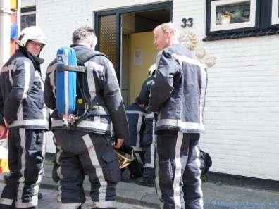 De brandweer Venhuizen.