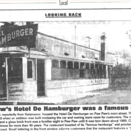 Hotel De Hamburger Paw Paw