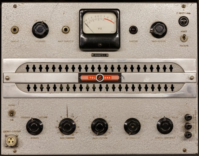 Part of the Coupigny Synthesiser and EMI mixing desk