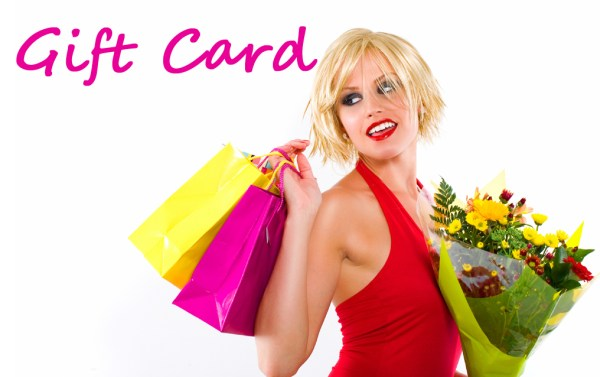 girl shopping card