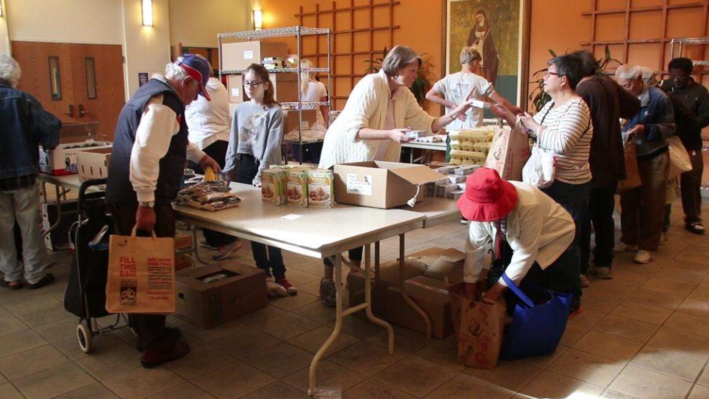 St Teresa food pantry