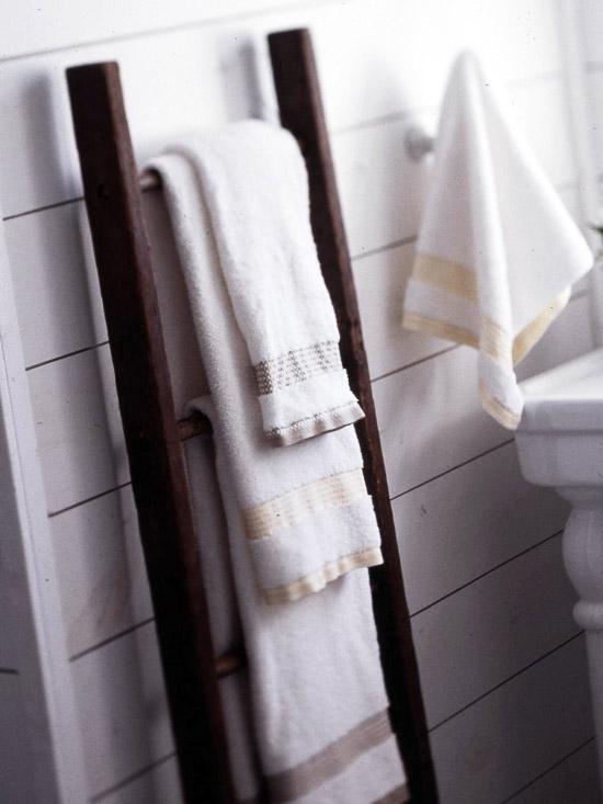 Bathroom ladder - Decorative ladder for bathroom ...