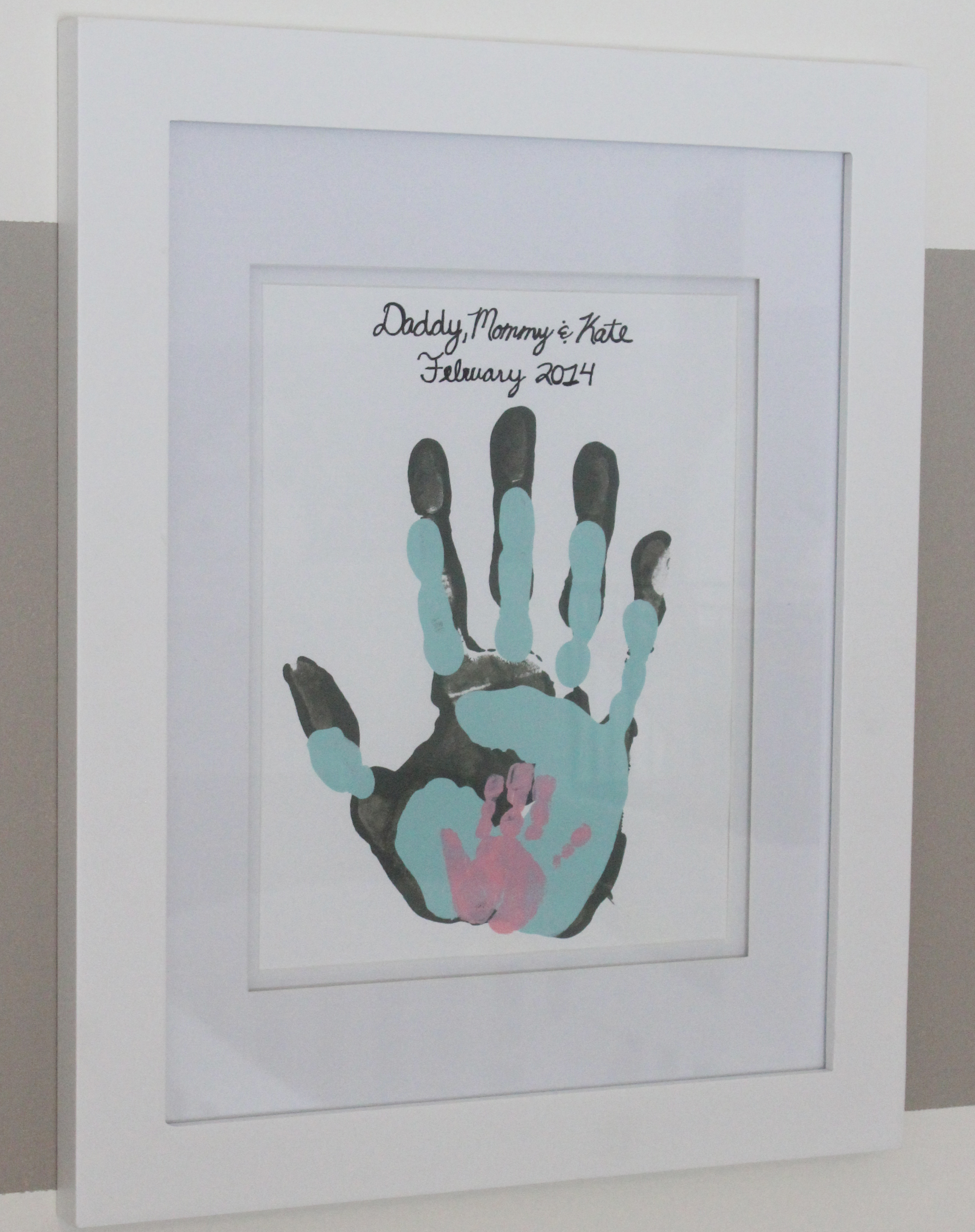 Canvas Handprints Acrylic Paint