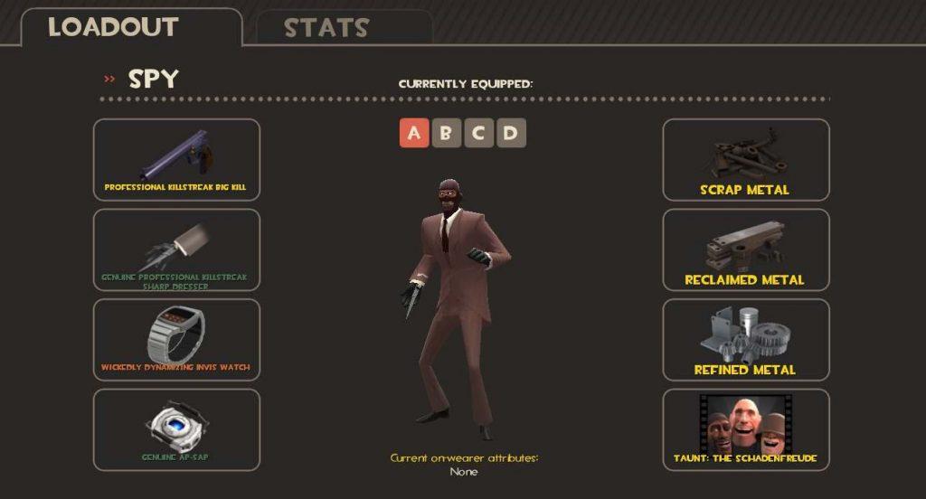 Spy - Loadout Screen - Team Fortress 2