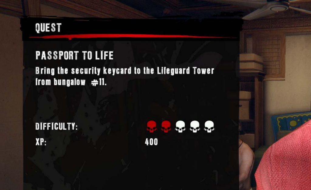 Dead Island would rate quests in difficulty and many were about collecting random items, although 'sometimes' necessary for story.
