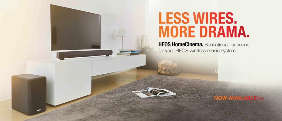 HEOS home entertainment systems. Multi room music made simple and fun.