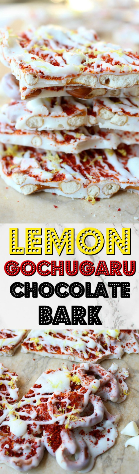 All you need are 6 simple ingredients to make this easy, no bake Korean Lemon Gochugaru Chocolate Bark. It's sweet, salty, and a little spicy!