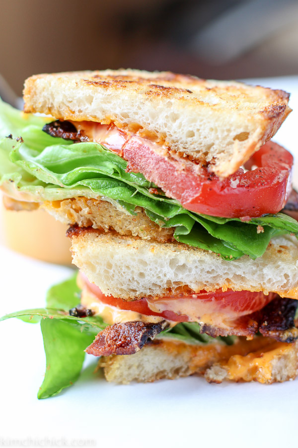 BLT with Gochujang Aioli - a smokey sweet aioli is the perfect addition to a classic sandwich